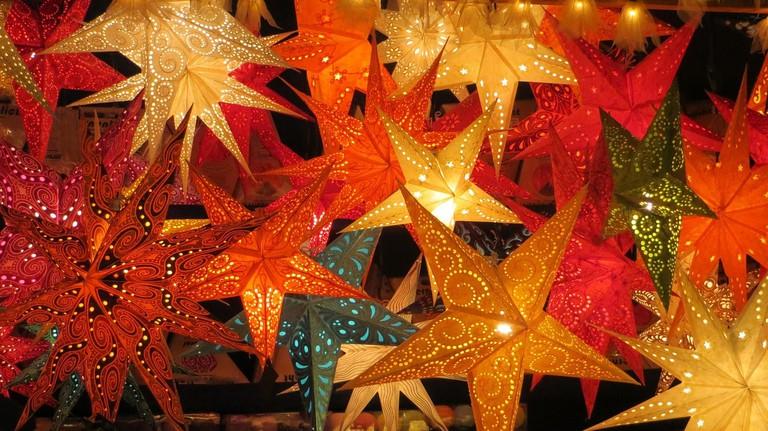 Christmas Stars at German Christmas Market