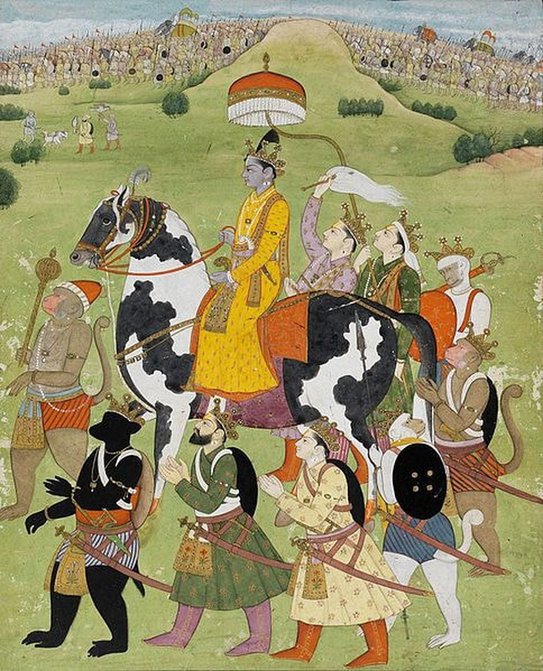 Rama_Returns_in_Victory_to_Ayodhya,_Pahari,_Kangra,_Fitzwilliam_Museum