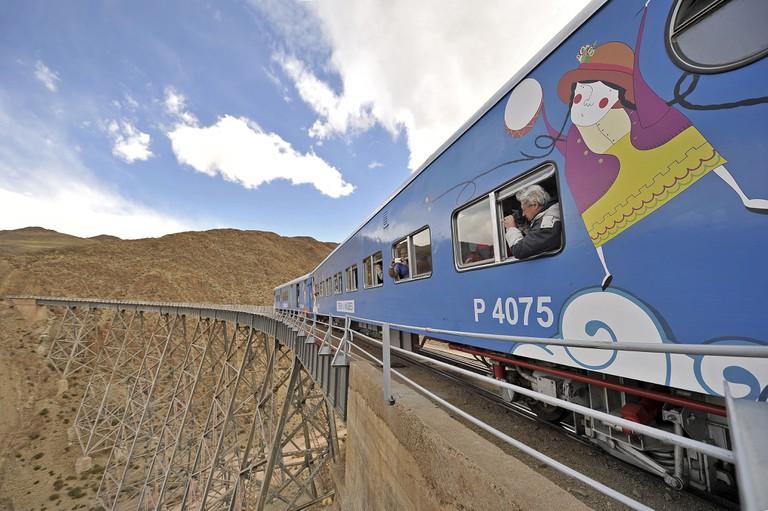 Ride the train!