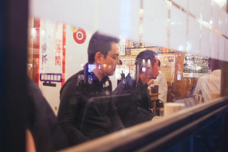 Through the windows of a Matsumoto Izakaya