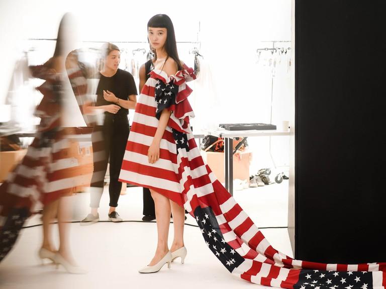 CFDA Vogue Fashion Fund Milk Presentations, Milk Studios, New York, USA - 26 Jul 2017