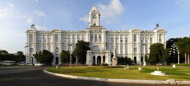 Ripon Building (HQ of Corporation of Chennai) is one of the city's best-known heritage structures