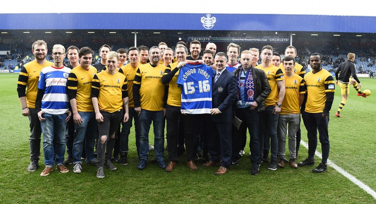 Sky Bet Championship 2015/16 QPR v Fulham Loftus Road Stadium, S Africa Rd, London, United Kingdom - 13 Feb 2016