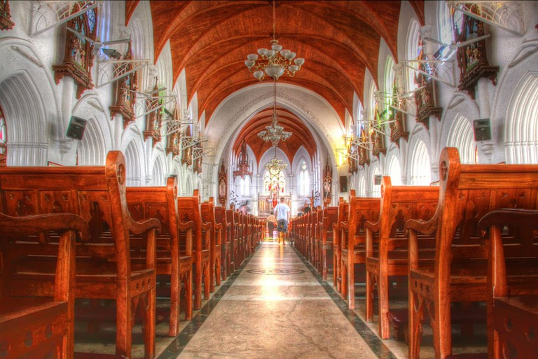 Interiors of the Santhome Basilica in Mylapore, Chennai