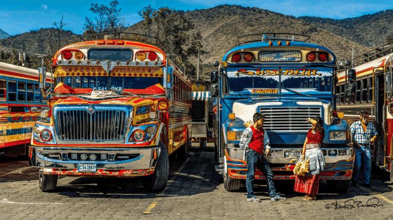 Guatemala chicken bus