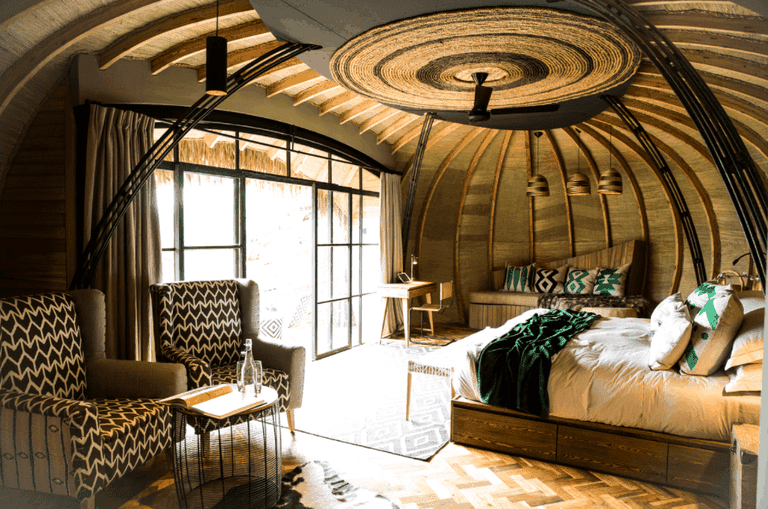 Guest bedroom at Bisate Lodge | Courtesy of Wilderness Safaris / Crookes & Jackson