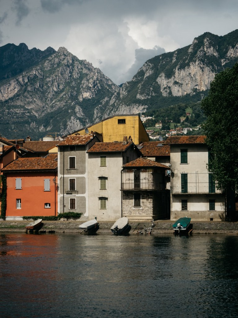 The harbour in Lecco