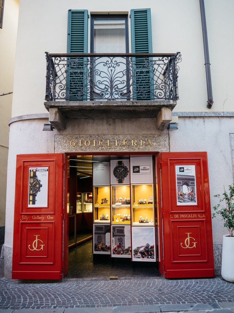 A jewellery shop in Lecco