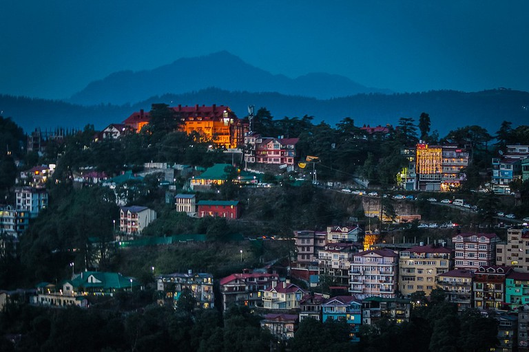 View of Shimla in Evening
