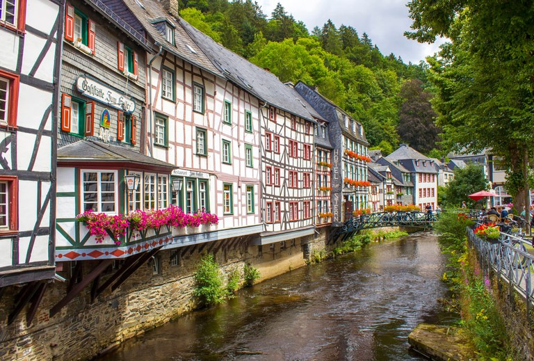 Monschau in the Eifel region, Germany
