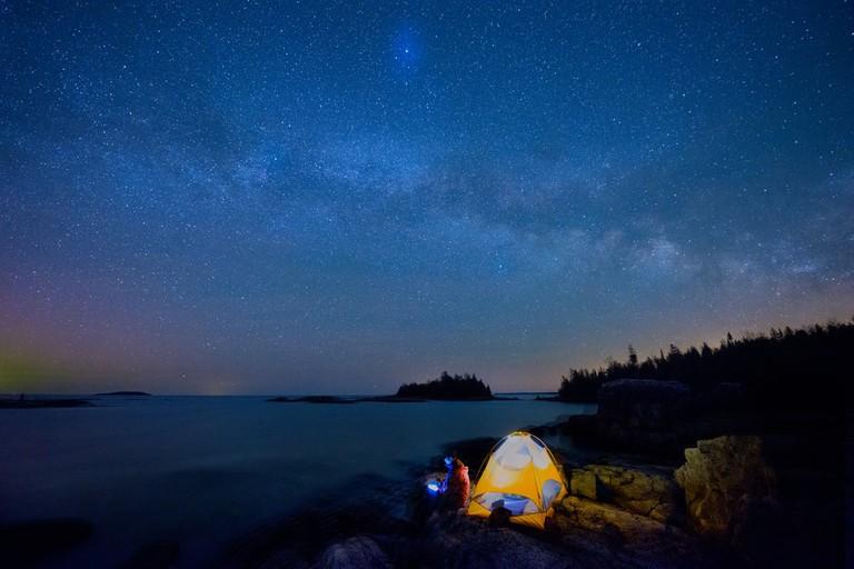 Camping under the stars in Bruce Peninsula