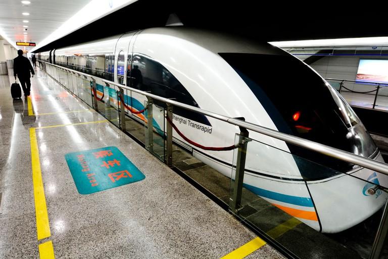 This Shanghai train is super speedy