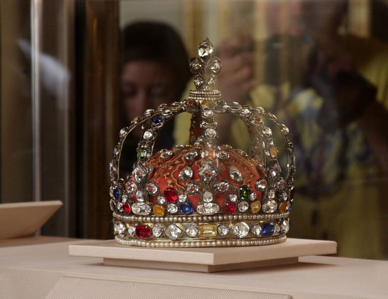 The Crown Jewels are protected by bombproof glass