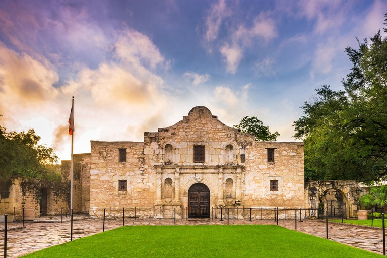 Gentleman must remove their hats in the Alamo