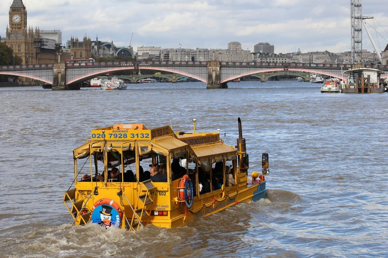 Ride the Duck Boat to experience both land and sea