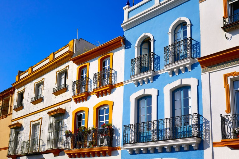 In Seville, private houses are things of beauty and colour