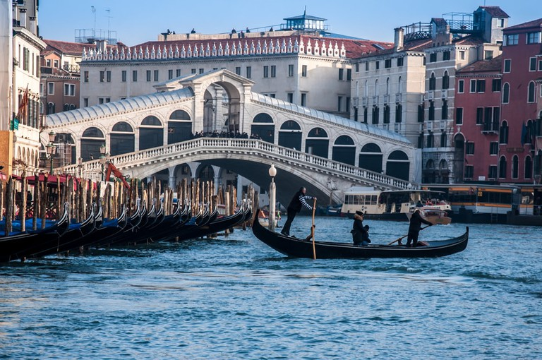 For a truly Venetian experience, stand up on the traghetto the entire journey