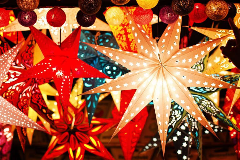 Christmas Parol Lanterns in The Philippines