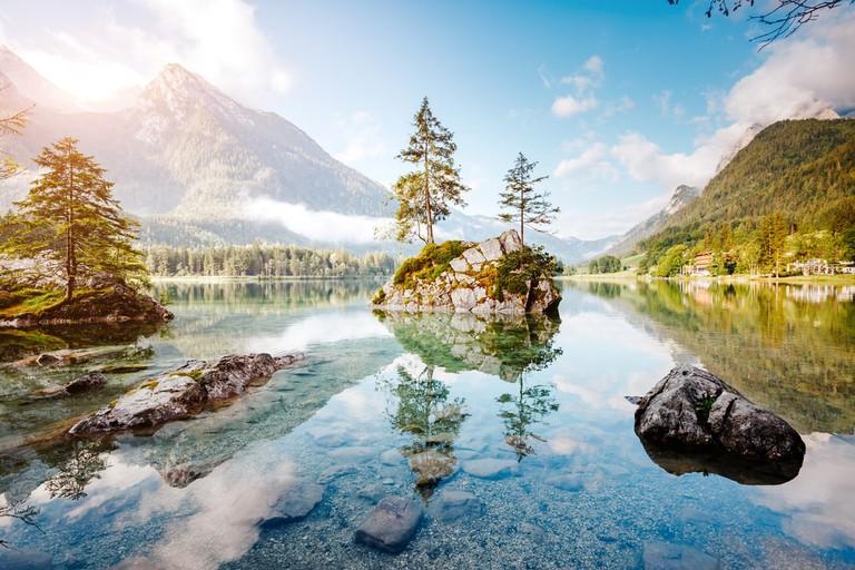 Lake Hintersee in National Park Berchtesgadener Land