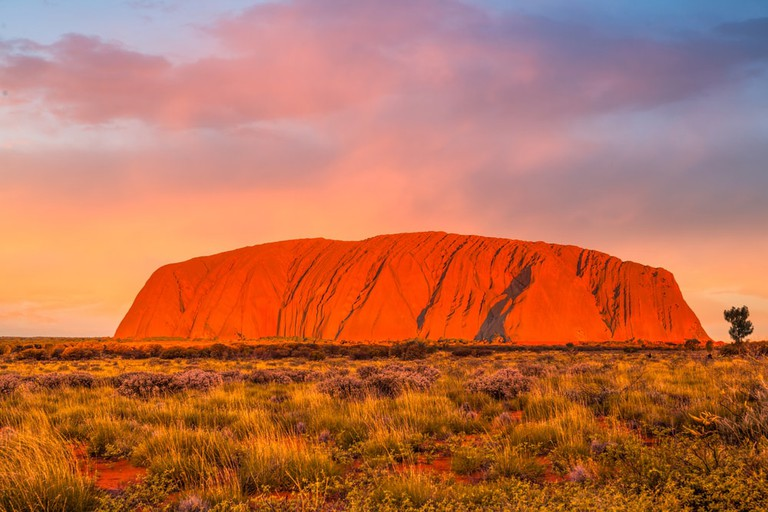 Ayers Rock is one of Australia's most famous landmarks