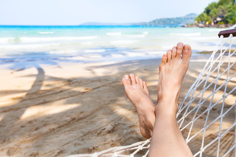 Kick back and relax at Lazy Beach