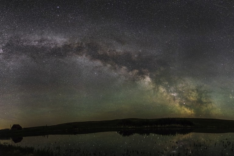 The Milky Way from Grasslands National Park