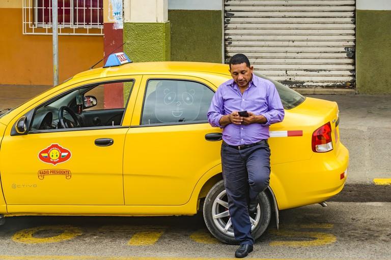 Taxi driver in Milagro, Ecuador
