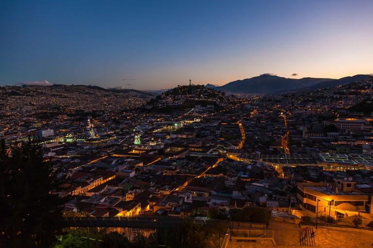 Quito at night, Ecuador