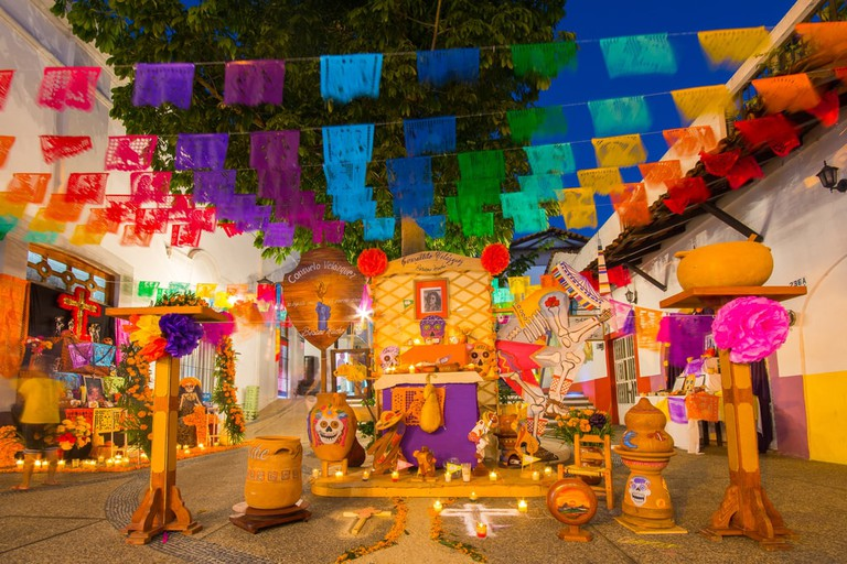 Day of the Dead altar in Puerto Vallarta, Mexico