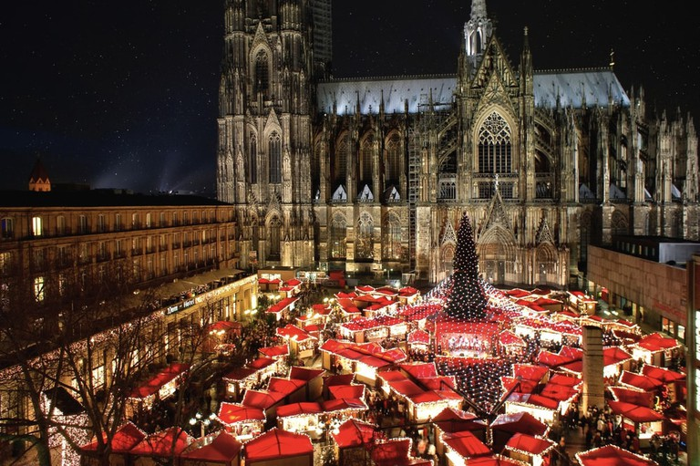 The famous german Cologne Cathedral Christmas Market