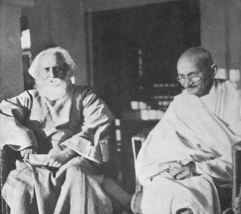 Rabindranath Tagore and Gandhi in 1940