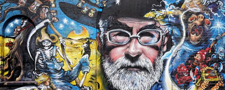 Terry Pratchett tribute graffiti