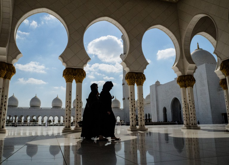 Women in Sheikh Zayed Mosque