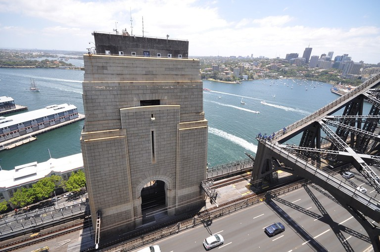 View from the south-eastern pylon of the Sydney Harbour Bridge