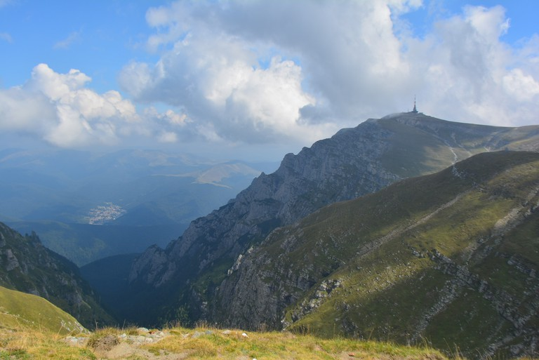 View over Bucegi Mountains