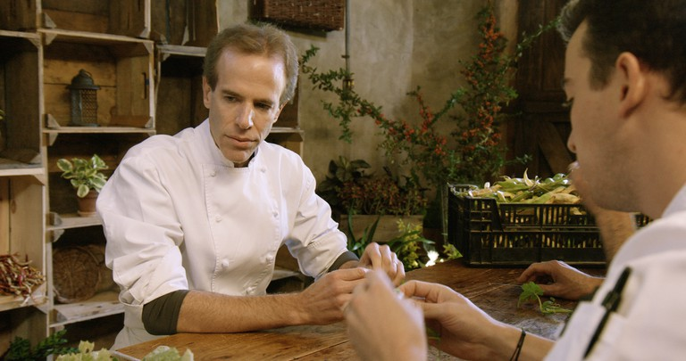 Chef Dan Barber talks with his staff in Wasted