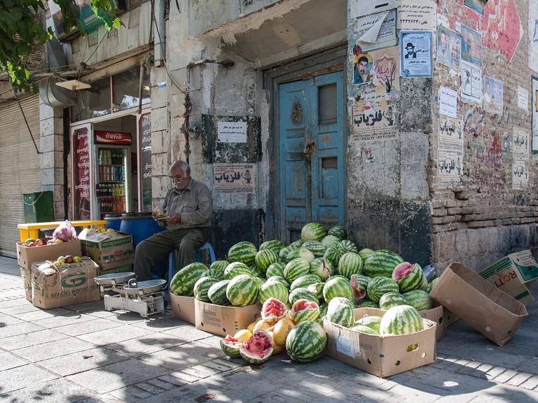 Watermelon season in Shiraz.   ©Julia Maudlin:flickr