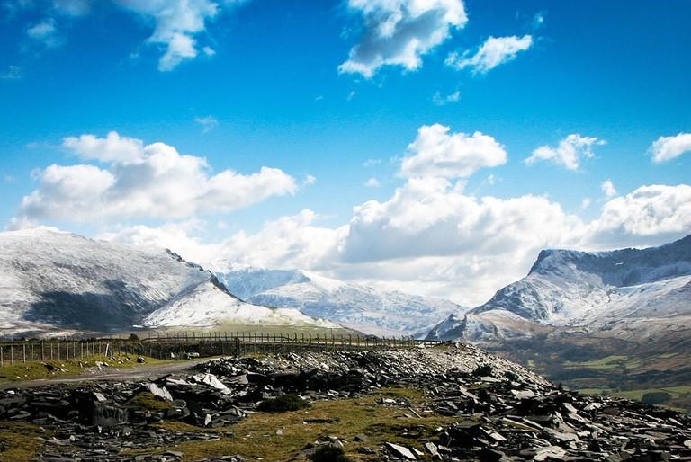 Wales Welsh Cilgwyn Snow Landscape Mountains