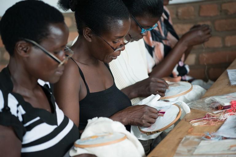 Women working at Ibaba Rwanda