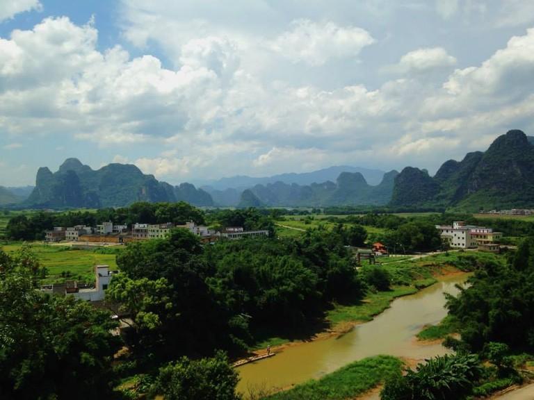 View of Yingde from Pengjiaci