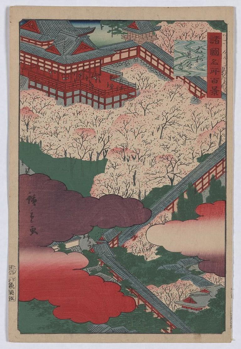 Utagawa Hiroshige, Hasedera in Yamato Province, 1859