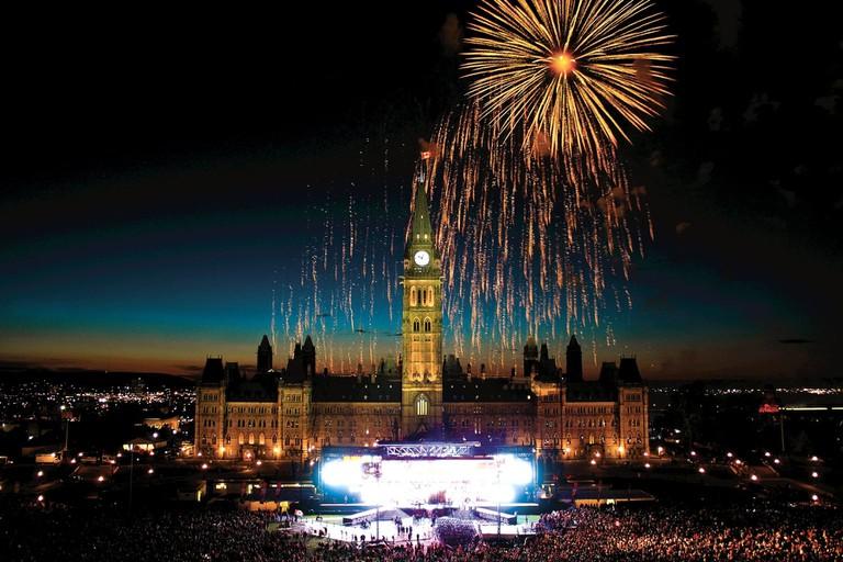 Fireworks over Parliament Hill, Ottawa | © OTMPC