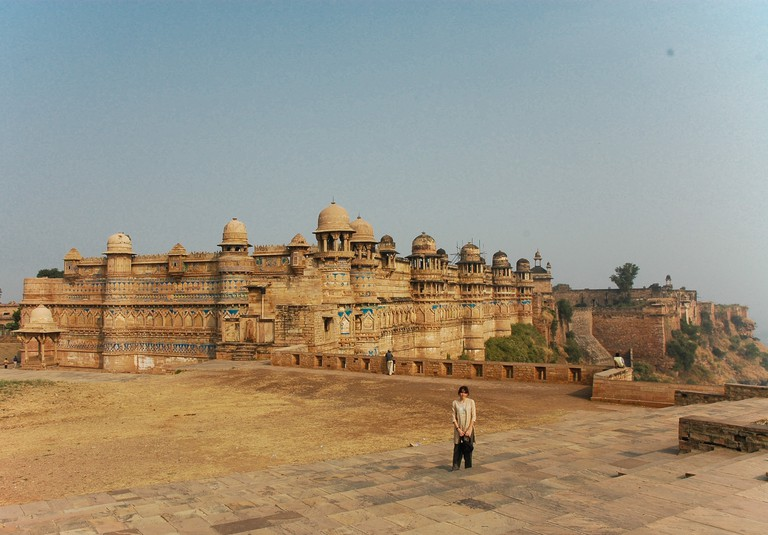 Gwalior fort was built as a defense structure on a hill