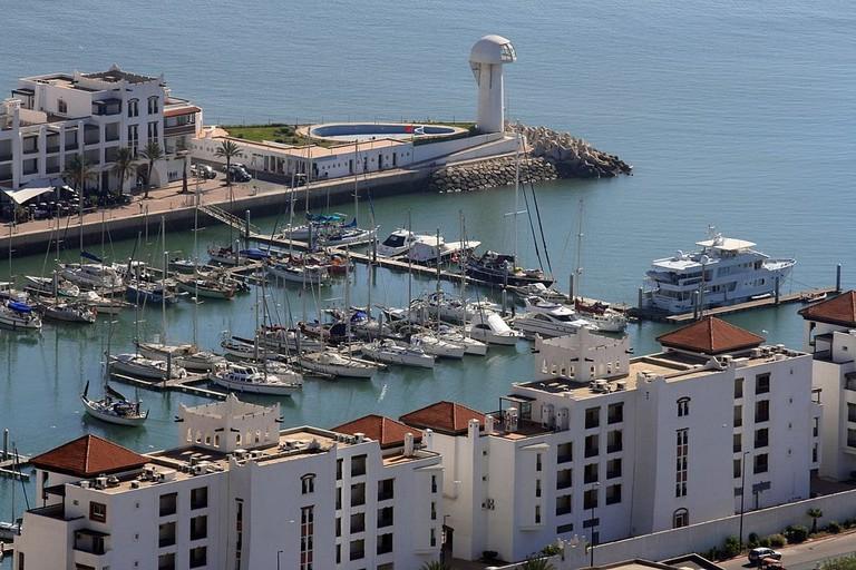 Boats in Agadir Marina