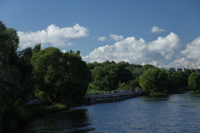 The riverfront in Severnoe Tushino Park, Moscow