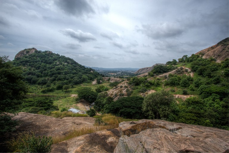 Ramanagara hills is situated on the road to Mysore from Bangalore