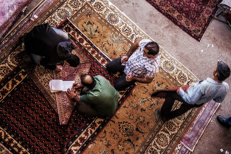 Investing in a Persian carpet requires some haggling