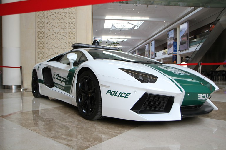 At least there isn't the problem of unmarked police cars in Dubai?