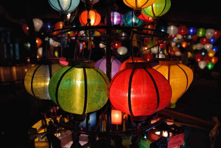 Lanterns for sale at night in Hoi An