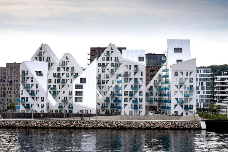 Aarhus O Isbjerget architectural landmark